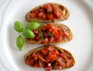Bruschetta plated