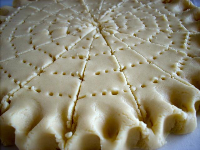 Unbaked shortbread dough