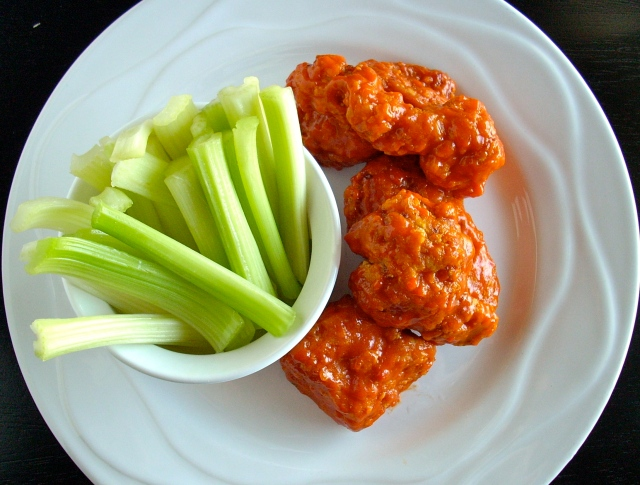 Buffalo chicken and celery