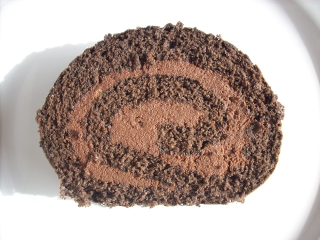 Delicious chocolate roll cake